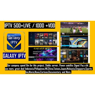 Galaxy TV Channel 500+Live Free tv HK Malaysia Channel for