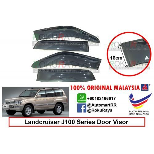 Toyota Landcruiser J100 Series 1998-2007 AG Door Visor (Extra Big 16cm Width)
