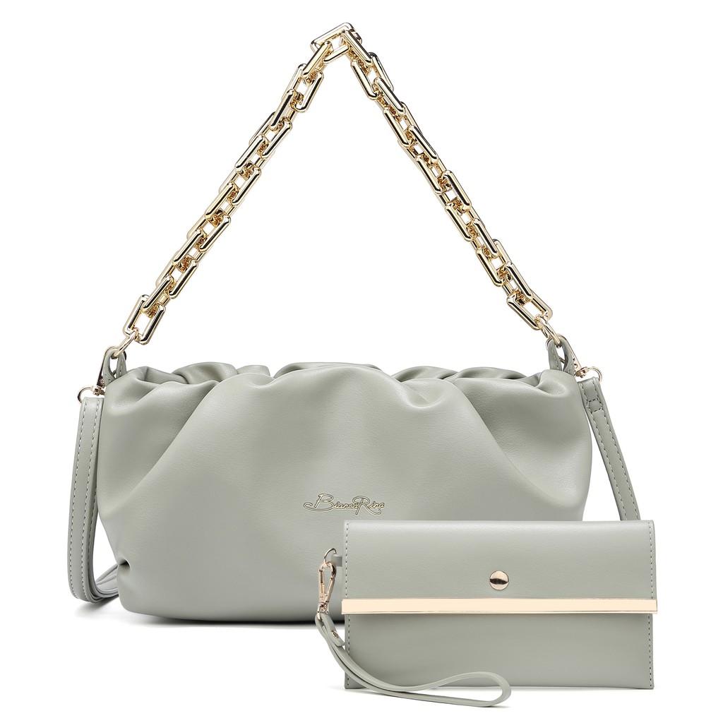 ROYAL POLO Anna Handbag 3 in 1 Set [Free SLing Bag + Button Wristlet]
