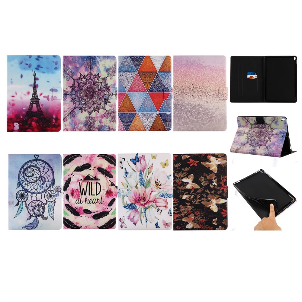 applewishSleep Wake UP Folding Painted Leather Case Cover For Apple iPad Pro 10.5inch