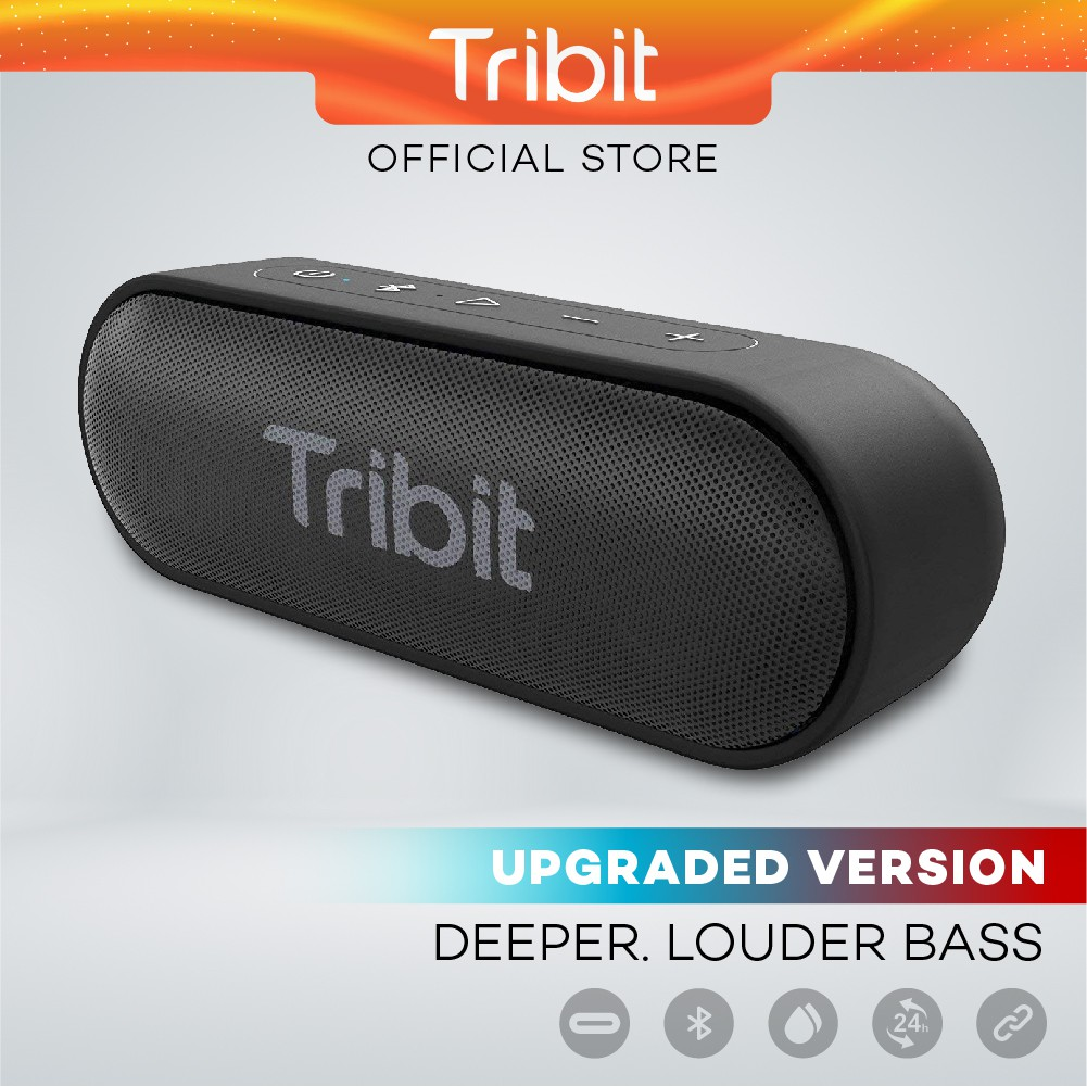 Tribit Xsound Go (Upgraded) - 16W, Bluetooth Speaker 5.0, Charging C, IPX7 Waterproof, 24 Hours Playtime, Dual Pairing