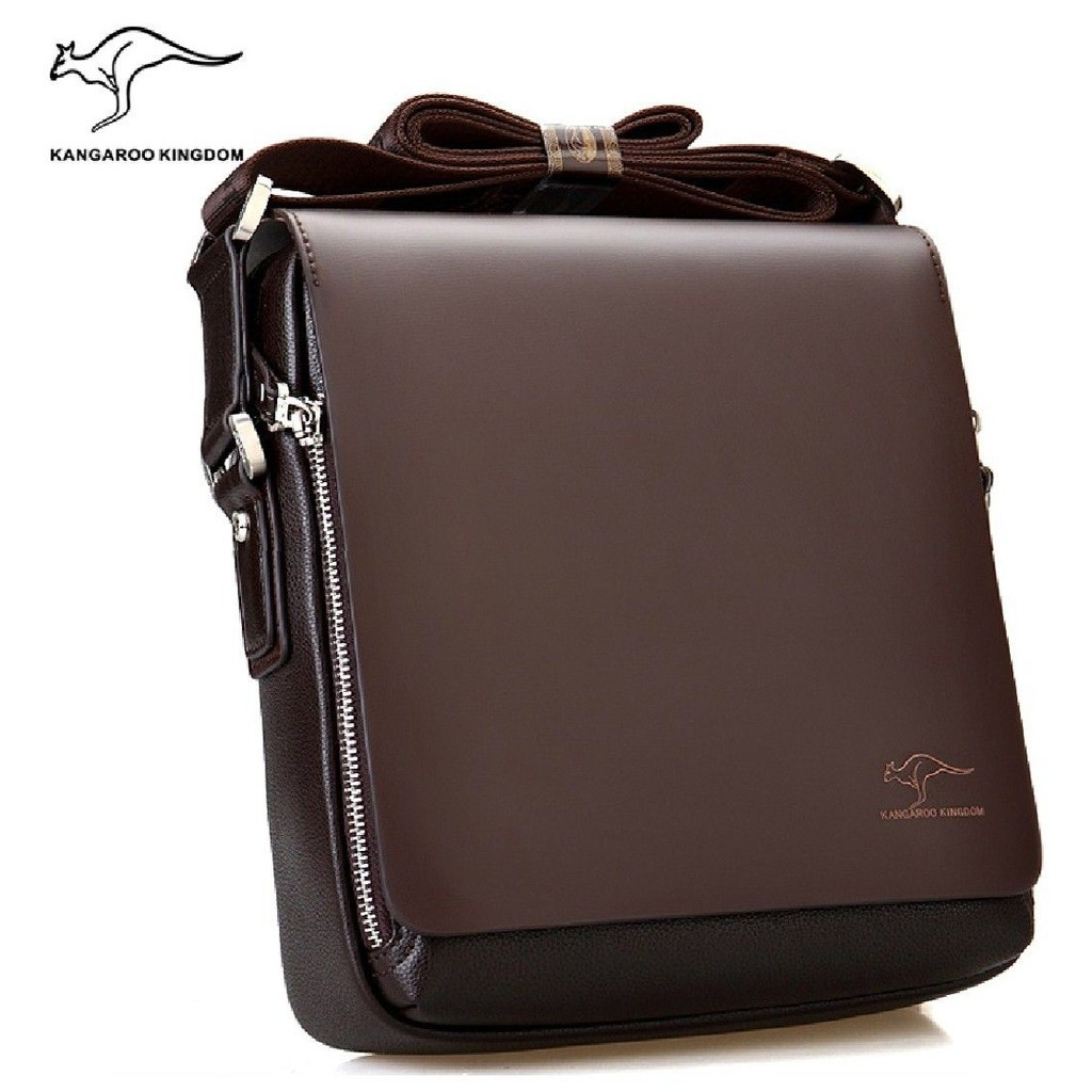 dd017de4e346 KANGAROO Kingdom Premium Leather Men Bag Sling Shoulder Messenger Man  Fashion