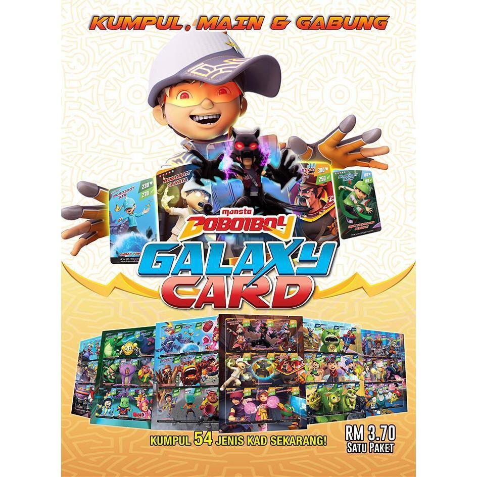 Boboiboy Galaxy Card Set Pek Adiwira 54 Cards Shopee Malaysia