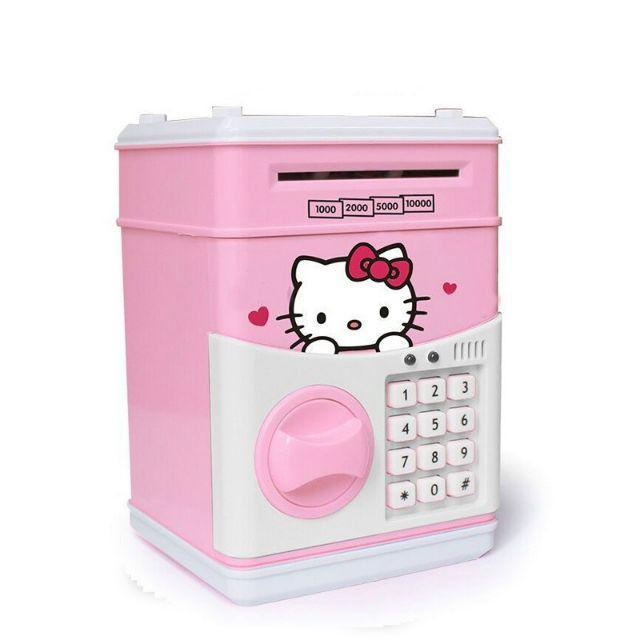 [ READY STOCK ]  Kid Cute Cartoon Hello Kitty Doraemon ATM Money Saving Box Budak Simpanan Baby Jualan Murah Pretend Play