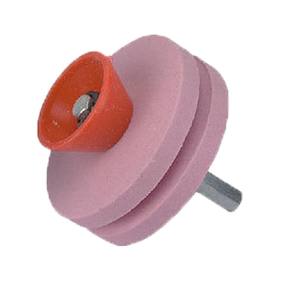 Lawn Mower Sharpener Heavy Duty Corundum Universal Grinding Rotary Drill Cuts Lawnmower Blade Sharpeners - Orange