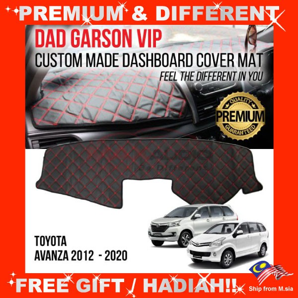 [FREE Gift] TOYOTA AVANZA 2012 - 2017 DAD GARSON VIP Premium Genuine Quality PU Leather Dashboard Cover Mat