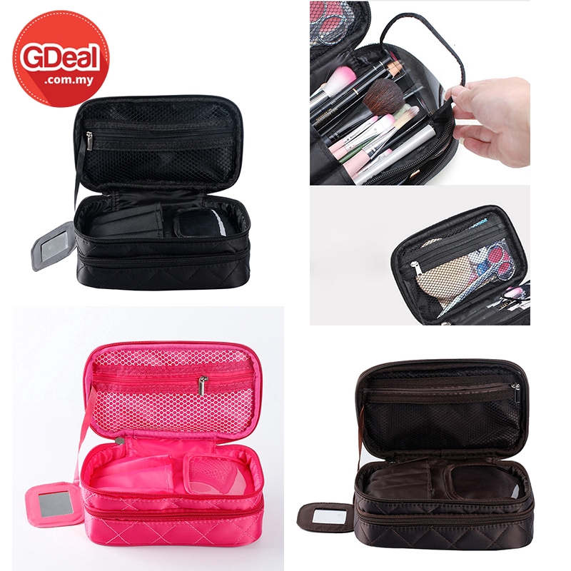GDeal Cosmetic Bags Makeup Case Travel Toiletry Bag Nylon Waterproof Professional Beauty Storage Brush Organizer Case
