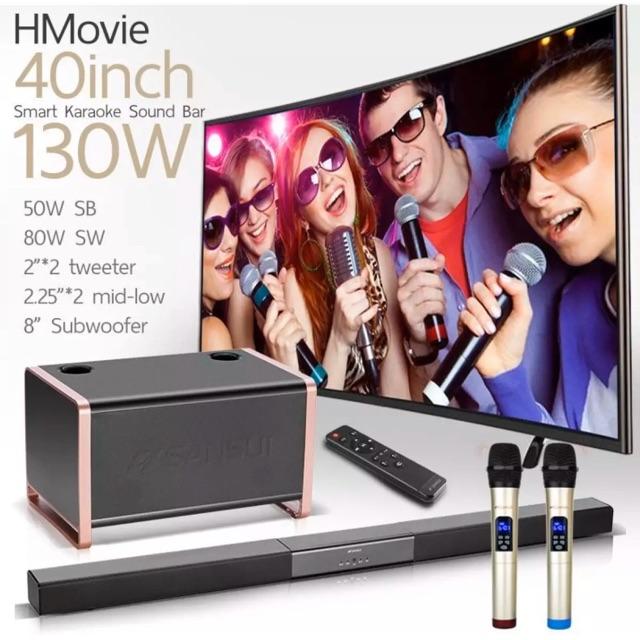 HMovie 91W SoundBar Karaoke 130W เบสเยอะ เสียงดี Bluetooth Subwoofer Microphone DigilifeG
