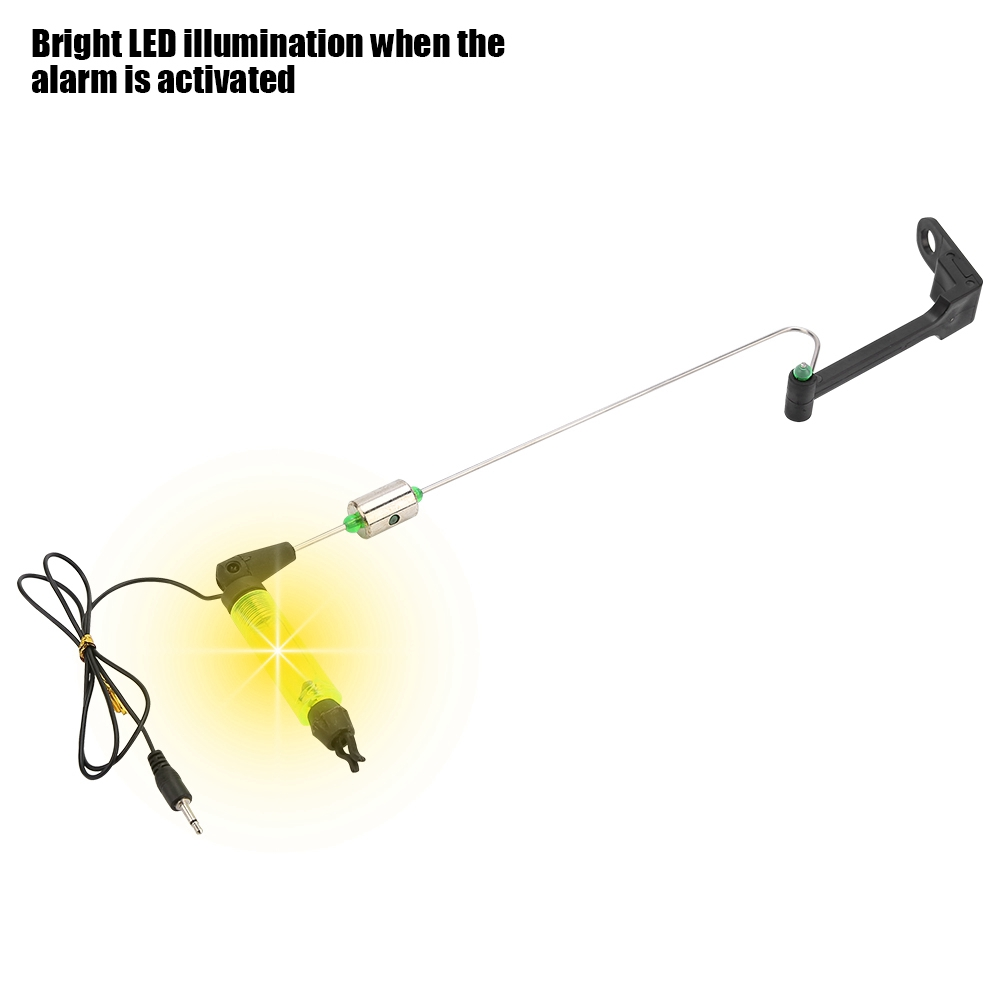 NEW Electronic Bite Fish Alarm Bell Fishing Rod Pole With LED light Lamp ZH