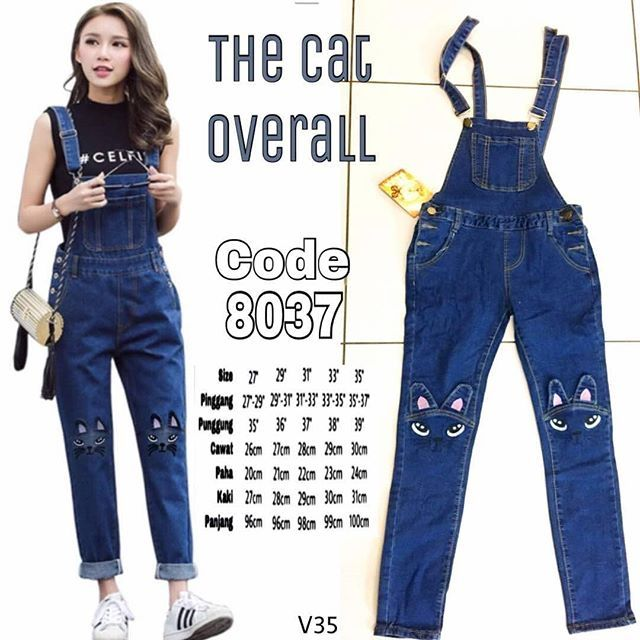 cat overall jeans shopee malaysia