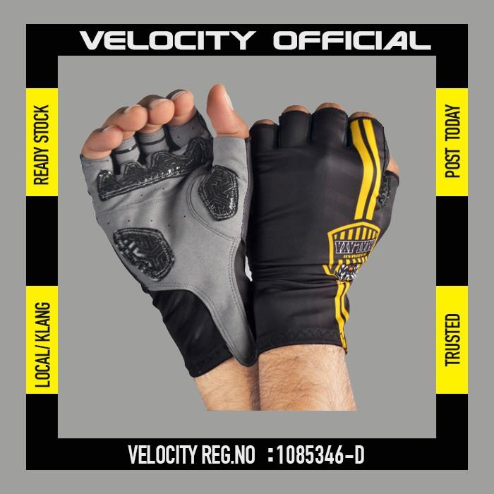 [READY STOCK] Velocity Gloves Harimau Malaya  Half Finger