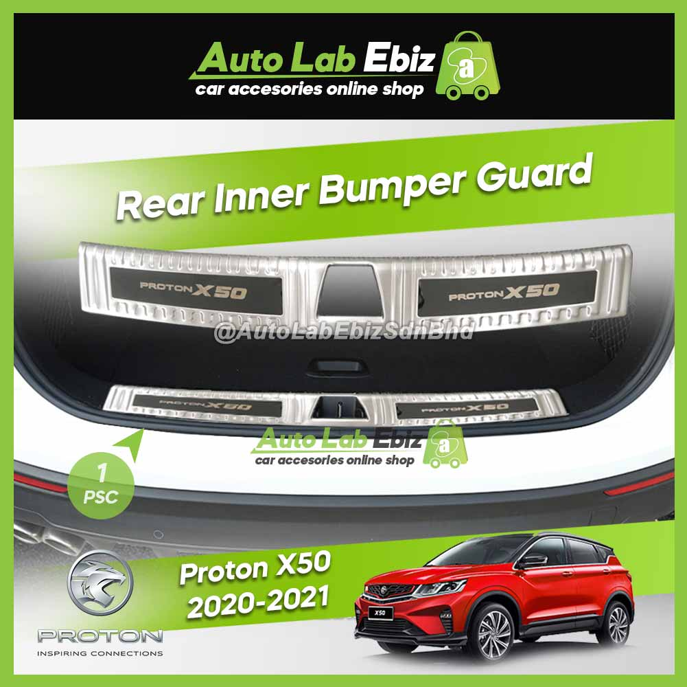 Proton X50 2020-2021 Rear Inner Bumper Guard Protector Chrome