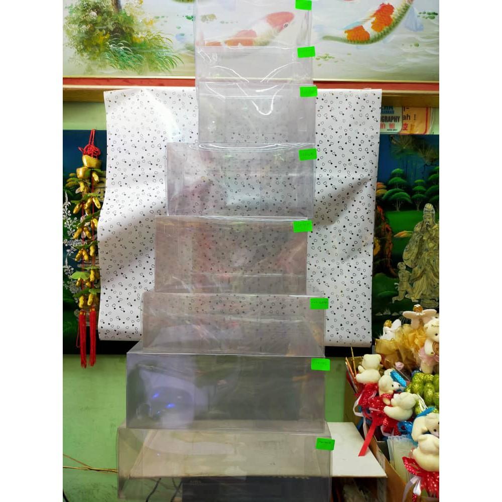 [READY STOCK] Kotak hantaran PVC jernih pelbagai size wedding gift hidden hantaran 1pc