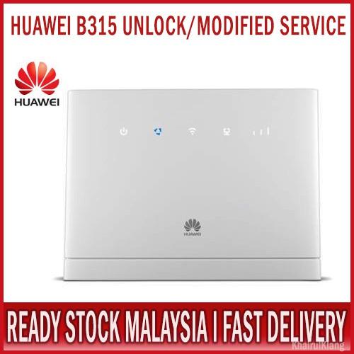 UNLOCK MOD FIX SERVICE HUAWEI B315 4G LTE WIFI ROUTER