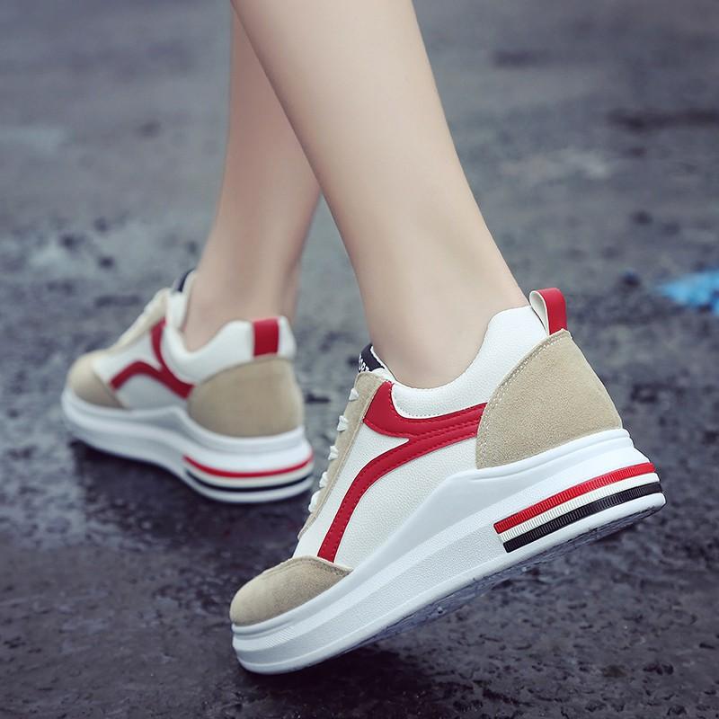 3e8ab7ec4 Fashion Sneaker Women Increase Shoes Wedge Shoe   Shopee Malaysia