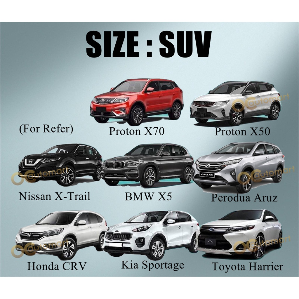 All Size Yama PEVA Car Body Cover Heat Protection Dust Resistant Car cover selimut kereta