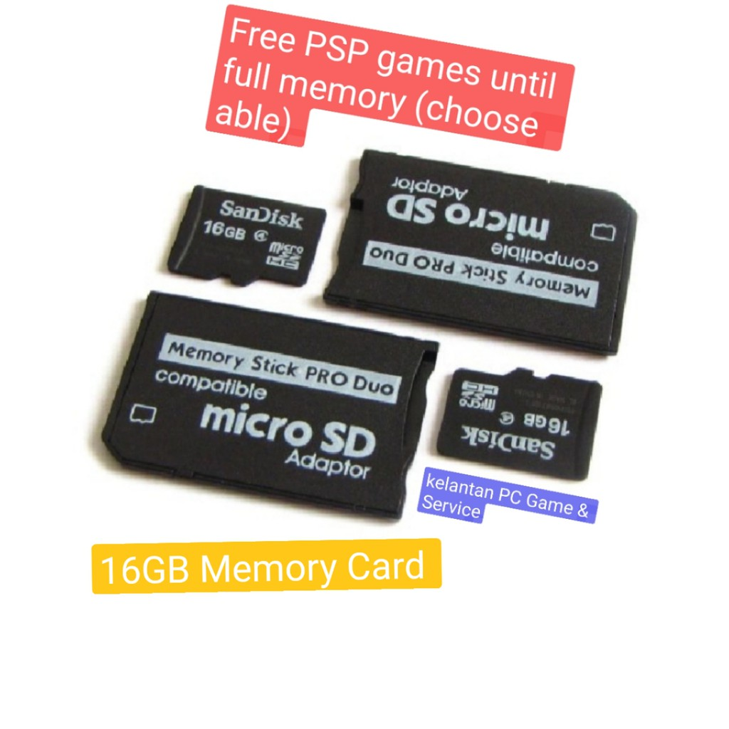 PSP Memory Card Pro Duo Memory Stick with Full Games (can be Choose)