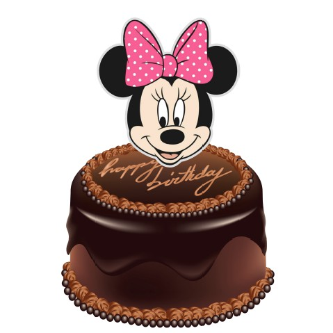 Wondrous Minnie Mouse Cake Topper Shopee Malaysia Funny Birthday Cards Online Elaedamsfinfo