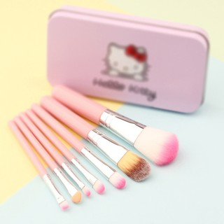 629dce8d1 7PCS Pink Hello Kitty Makeup Brush Set Mini Size with Metal Box Best Gift |  Shopee Malaysia