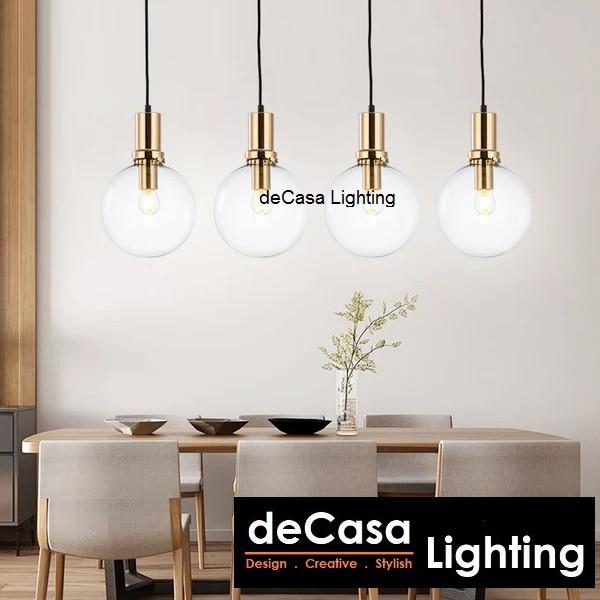 25cm Mirror Ball Single Pendant Light DECASA Pendant Glass Ball Hanging Light Ceiling Light Lampu Gantung (10135-250)