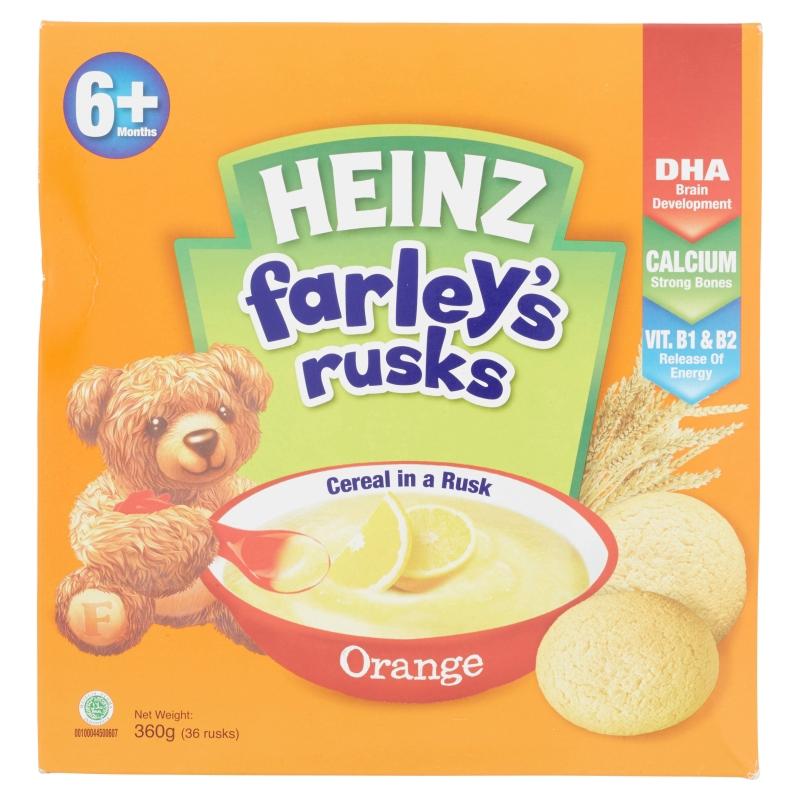 Heinz Farley's Rusks for 6+ Months - Orange (36 Rusks/360g)