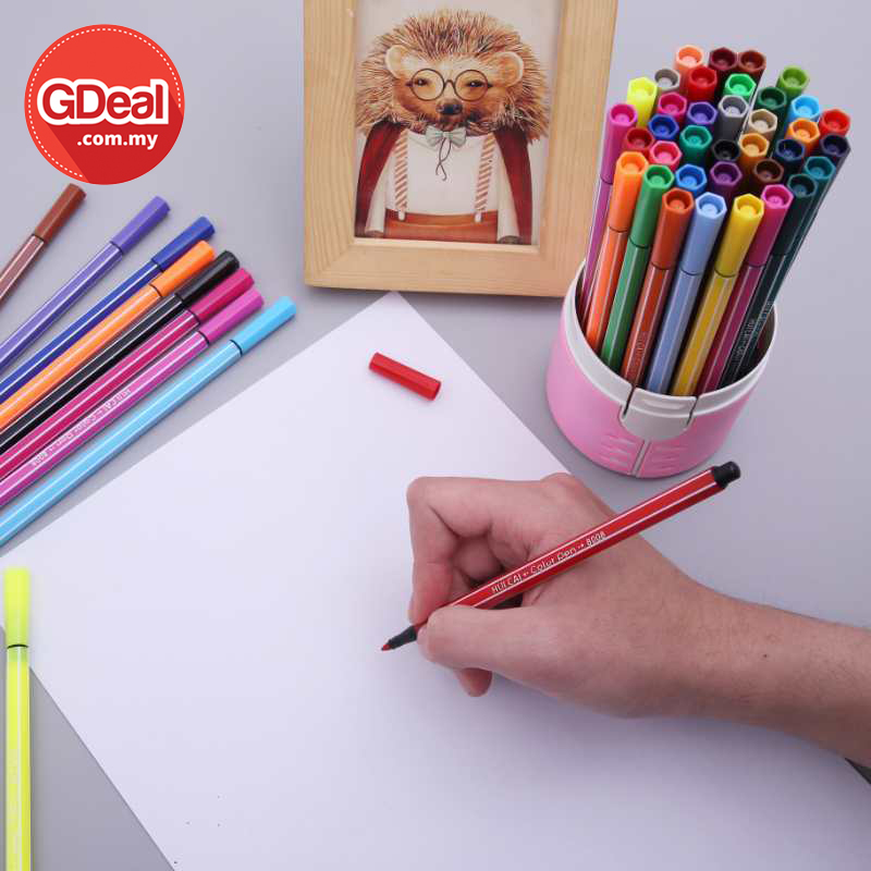 GDeal 36 Color Per Set Lucky Bottle Watercolor Pen Plastic Gifts For Children Drawing Supplies Washable Watercolor Pen