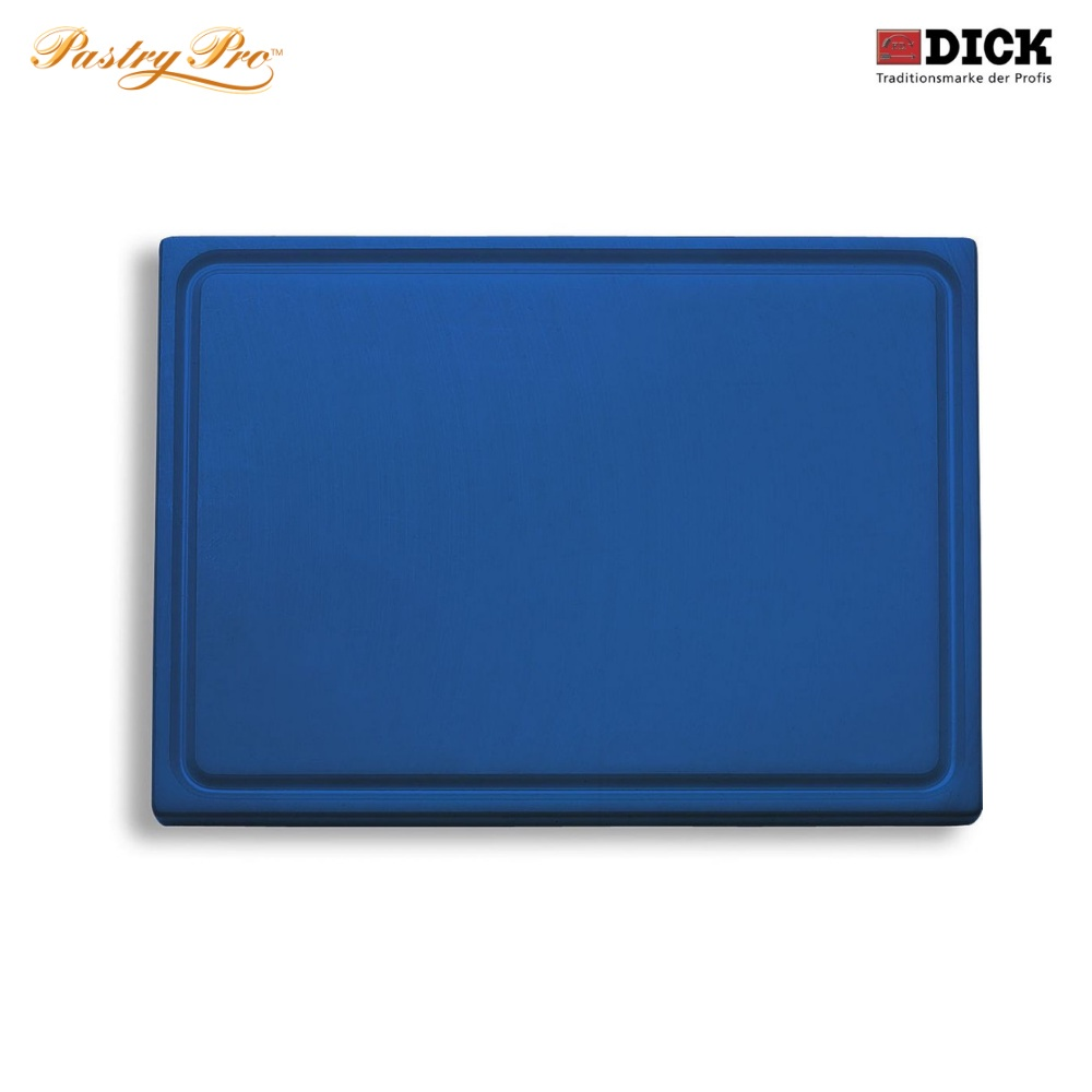 F.DICK, Cutting Board - with juice groove, HACCP Colour Coded, Blue