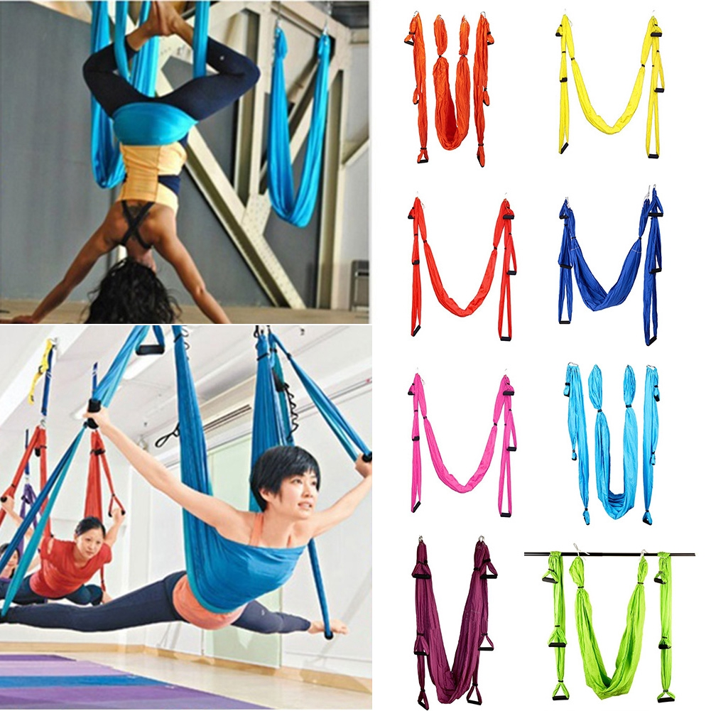 Yoga Belts Romantic Yoga Hammock Aerial Yoga Trapeze Inversion Training Sling Anti Gravity Exercise Training Yoga Swing Extension Strap Fitness & Body Building