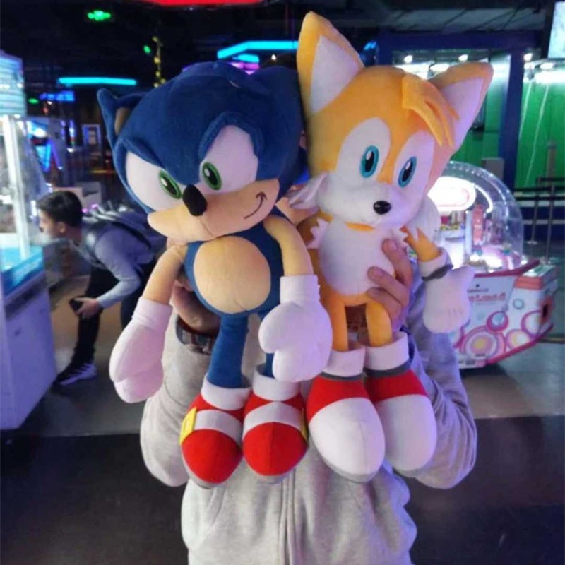 40cm Sonic The Hedgehog Sonic Tails Knuckles The Echidna Stuffed Plush Toys Doll Shopee Malaysia