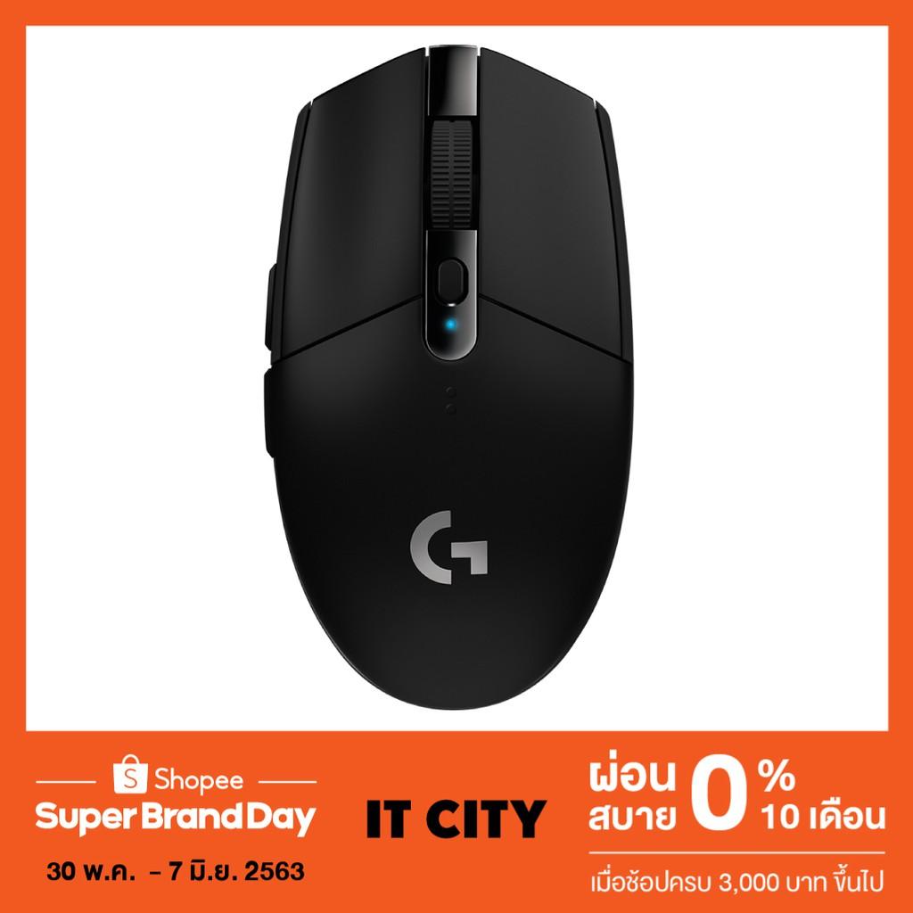 [CLGRAGAS2ลด10%] LOGITECH G304 Light Speed Wireless Gaming Mouse เม้าส์สำหรับเล
