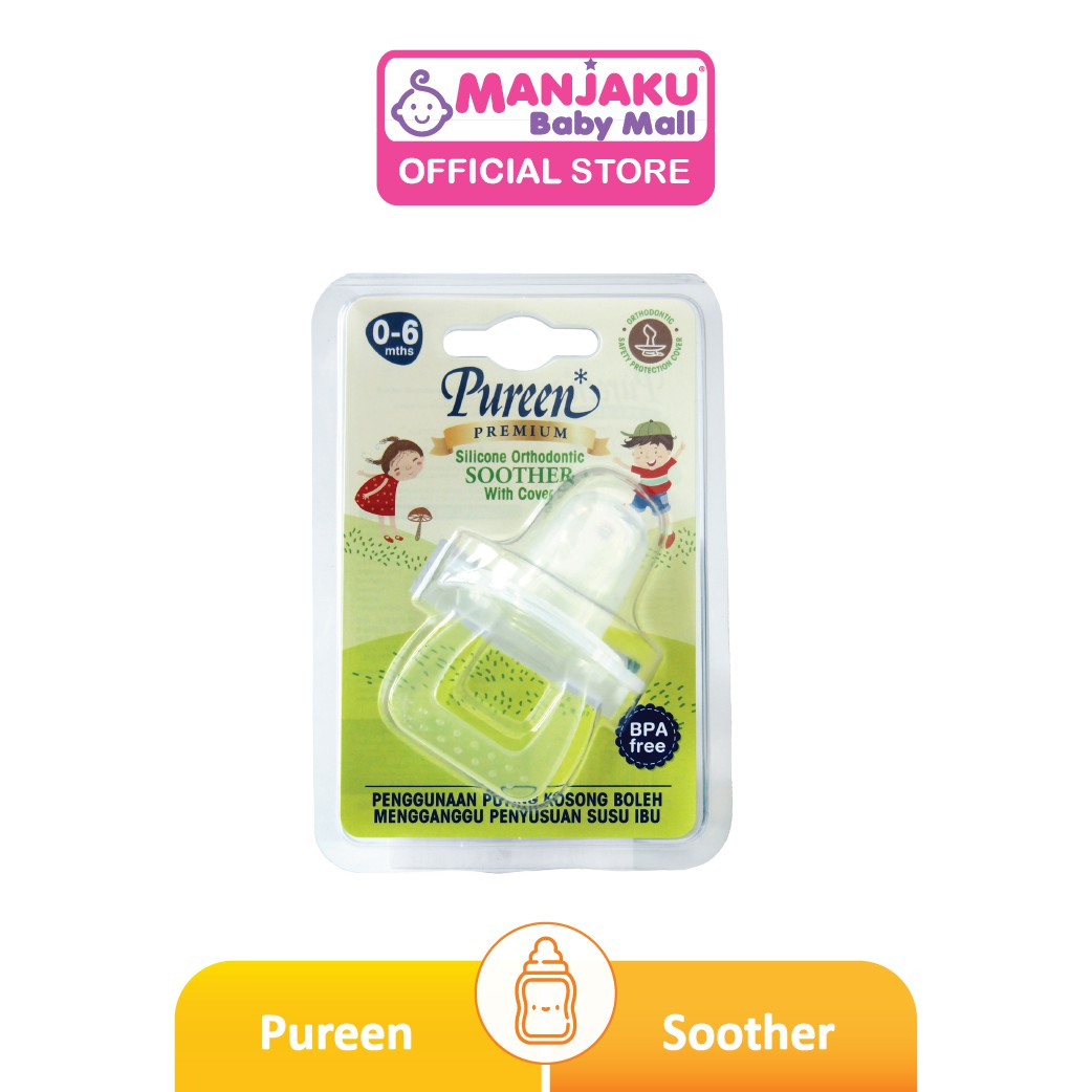 Pureen Silicone Orthodontic Soother With Cover