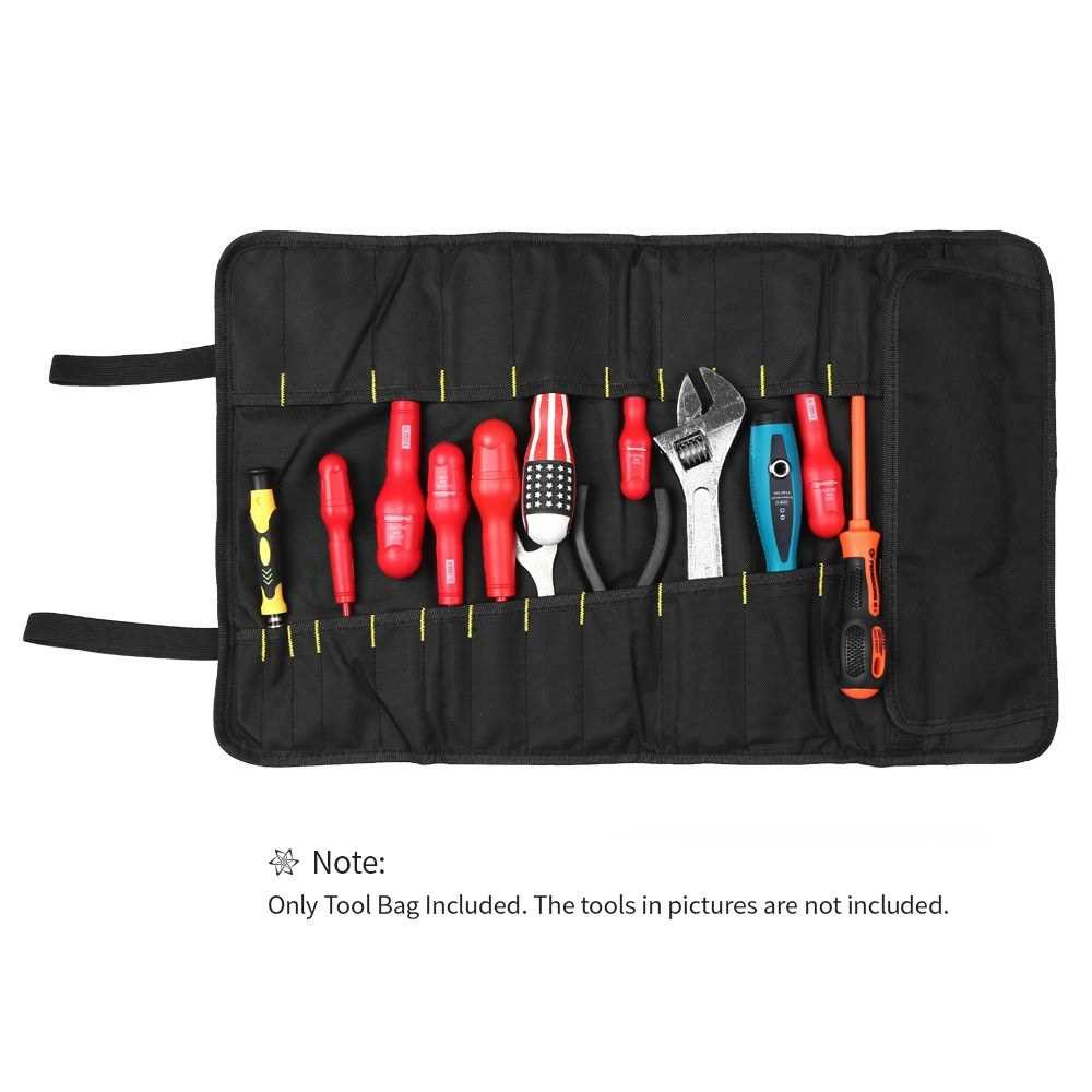 PENGGONG Tool Bag Organizer Oxford Canvas Chisel Roll Rolling Pounch Wearable & Waterproof Repairing Carrying Handle Ba