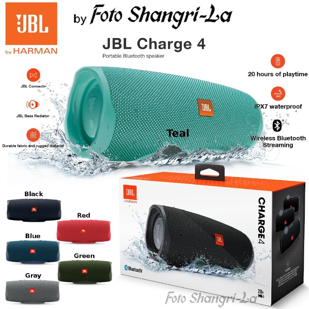 Jbl Charge 4 Portable Bluetooth Speaker Ipx7 Waterproof With Dual Bass Radiator Shopee Malaysia
