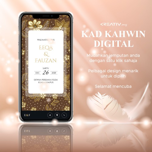 Kad Kahwin Digital With Apps Features Promo Shopee Malaysia