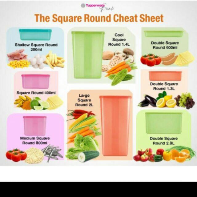 Tupperware  Food Container Ultimate Square Round Set 11pcs