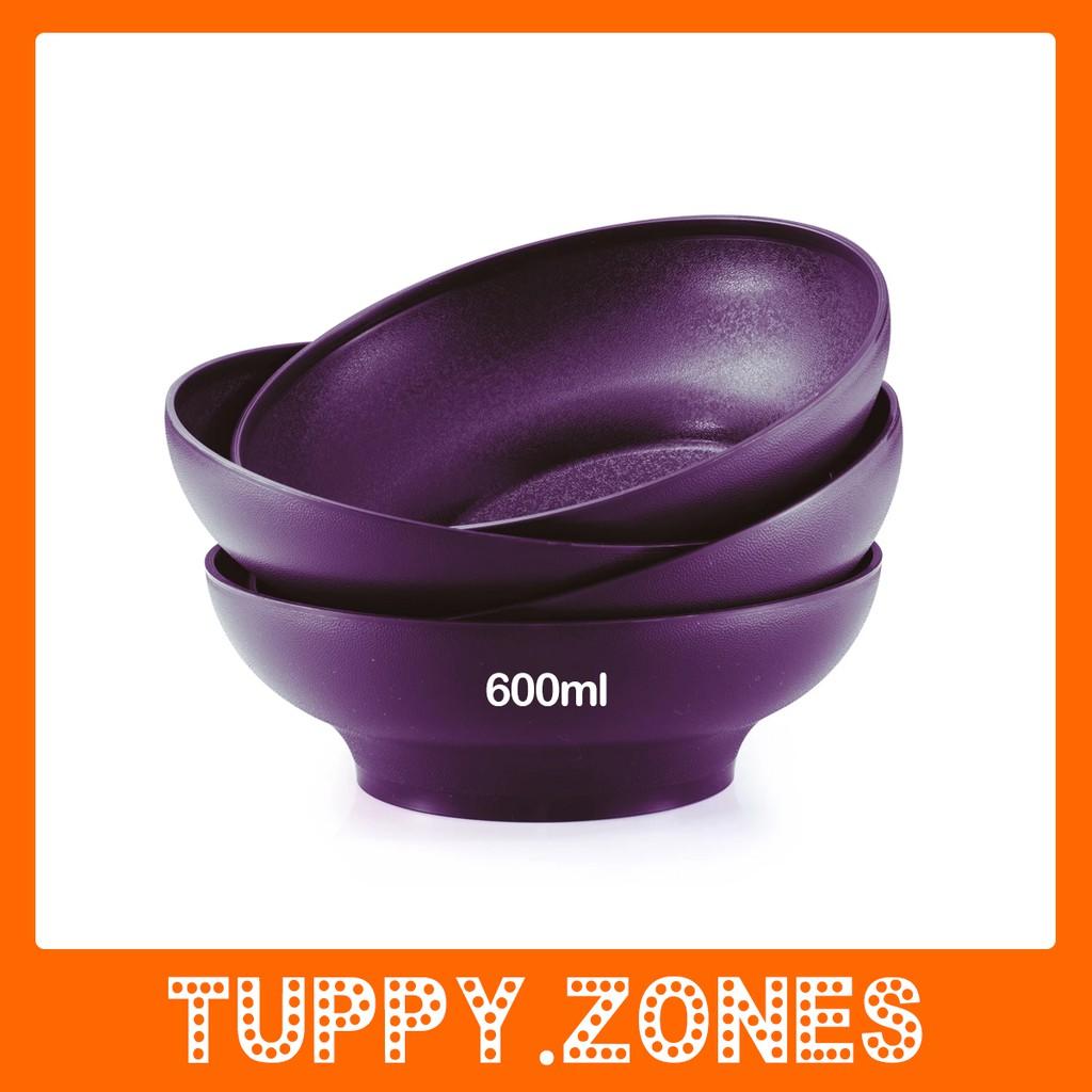TUPPERWARE BLOSSOM MICROWAVEABLE BOWL (4) 600ml.