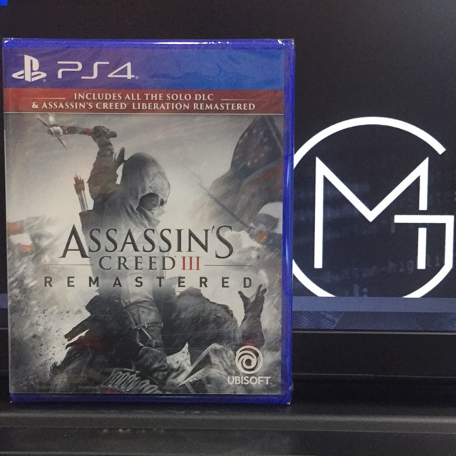 Ps4 - Assassin's Creed 3 : Remastered 刺客教條 3 重制版 (R3) 中英文版 Eng/Chi Ver