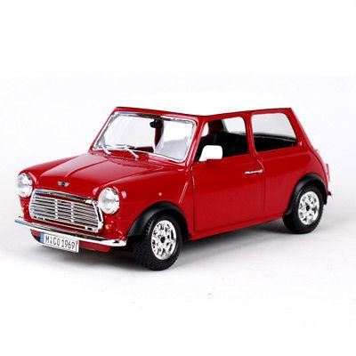 Bburago Diecast Model 1 24 Scale 1969 Mini Cooper Car Bus Model Toys