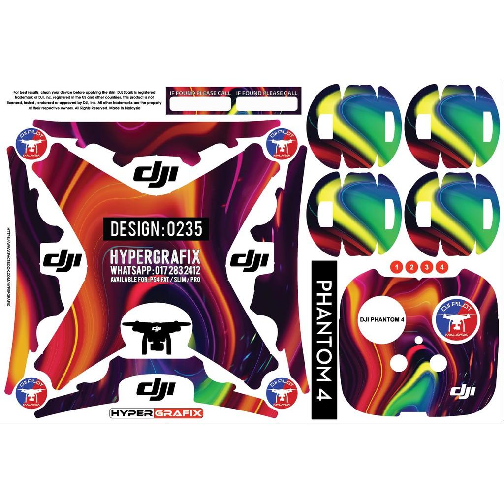DJI PHANTOM 4 ADV / PRO Sticker Skin Design 0235