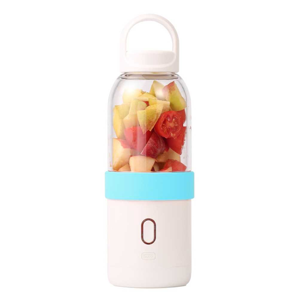 Portable Blender Juicer Cup Electric Automatic Water Bottle Blue (Blue)