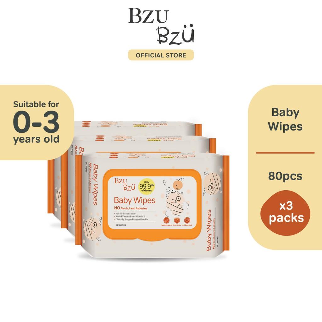 BZU BZU Baby Wipes (80 Pcs x 3)