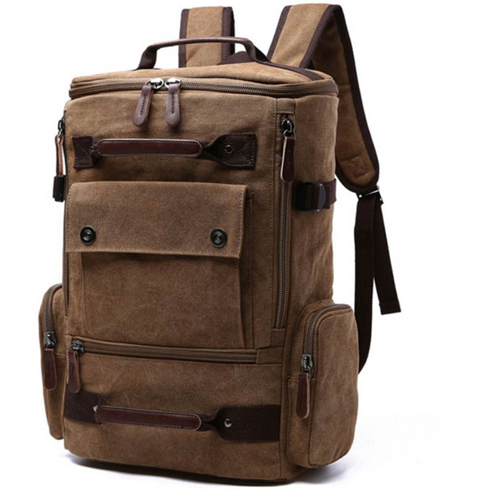 7eaa7254f430 Men Laptop Backpack Canvas School Bag Travel Backpacks Notebook Bagpack  Knapsack Bags