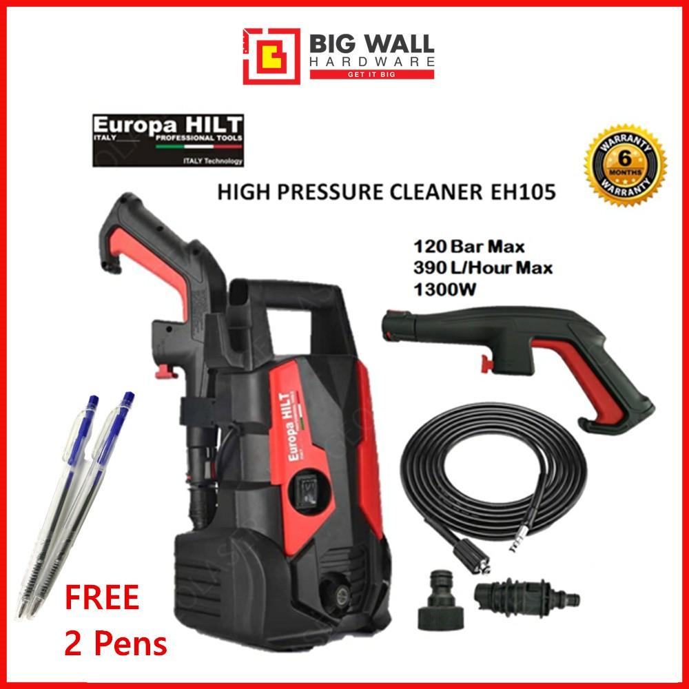Europa Hilt High Pressure Cleaner EH105 120bar 1300w / Eurohit 1500w 120 bar EU.K2 Extra High Pressure Water Jet Washer