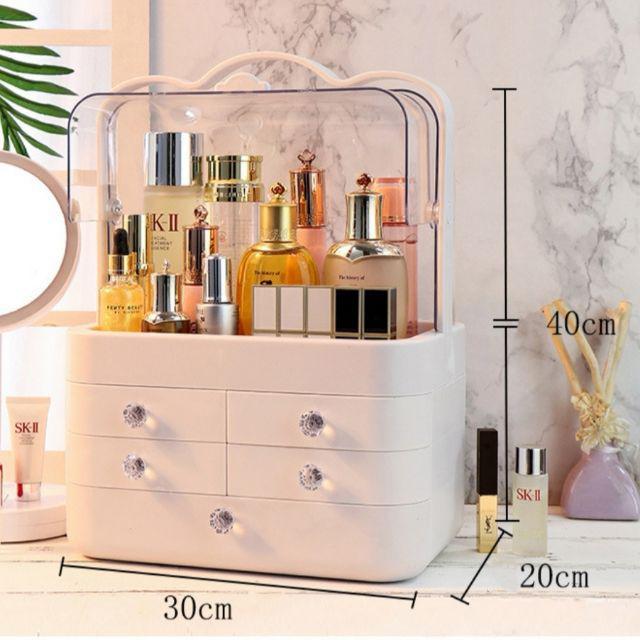 [ READY STOCK ]  Cosmetic Storage Box Makeup Drawer Jewelry Container Desktop Dustproof Jualan Murah Girl Simpanan Almari