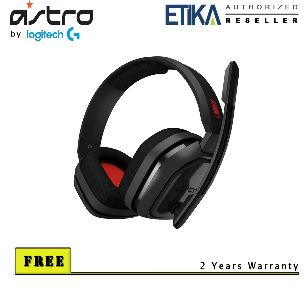 ASTRO Gaming A10 Gaming Headset by Logitech G (Grey/Red)