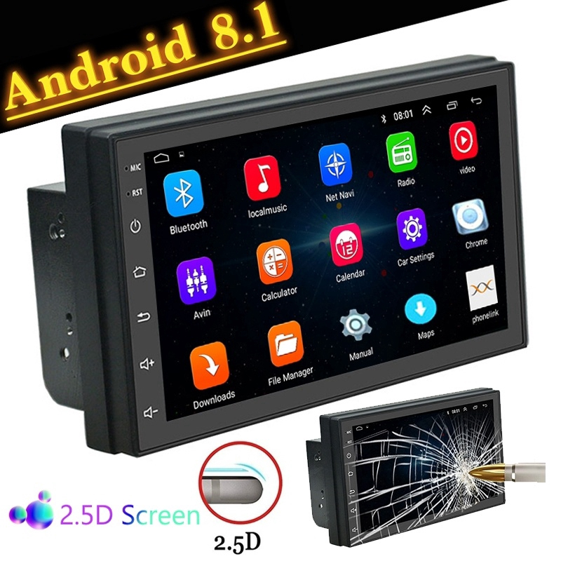 Android 8 1 2 Din Car GPS Stereo MP5 Player
