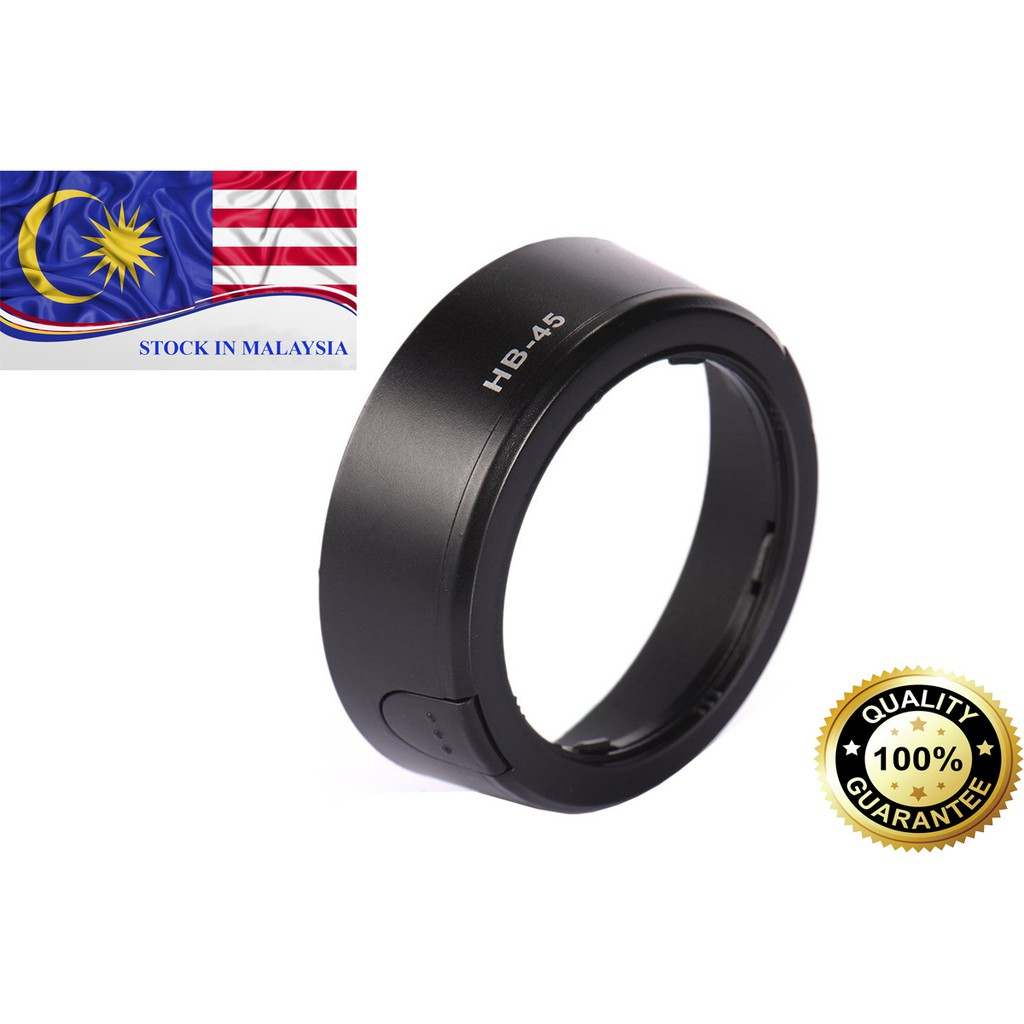 HB-45 HB45 Lens Hood For Nikon AF-S DX 18-55mm VR (Ready Stock In Malaysia)