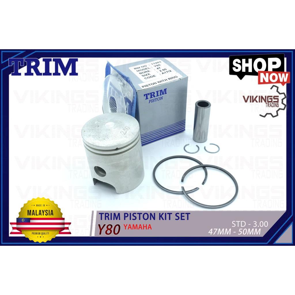 Y80 TRIM MALAYSIA PISTON + RING + PIN + CLIP PISTON KIT SET STD-300