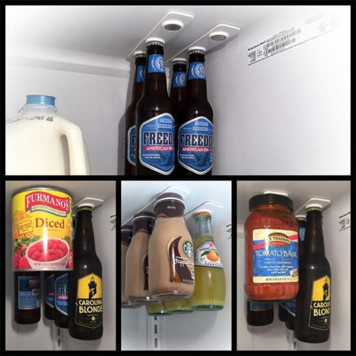 2Pcs Refrigerator Fridge Magnet Beer Bottle Jar Hanger Holder Loft New