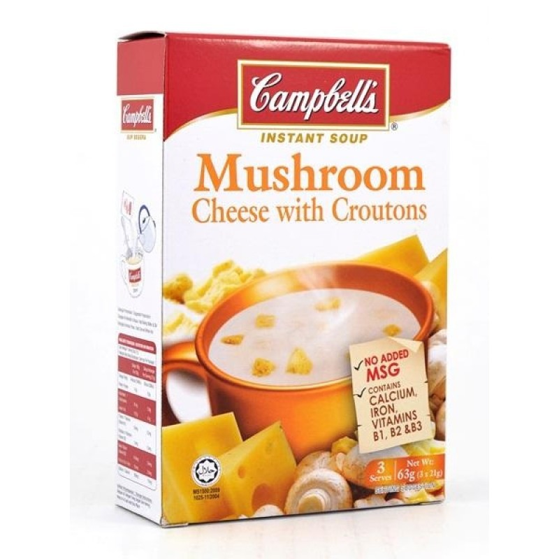 CAMPBELL'S - INSTANT SOUP SUP (MUSHROOM / CHEESE / WILD / PUMPKIN / CREME CHICKEN / CHICKEN MUSHROOM) - PACK OF 3)